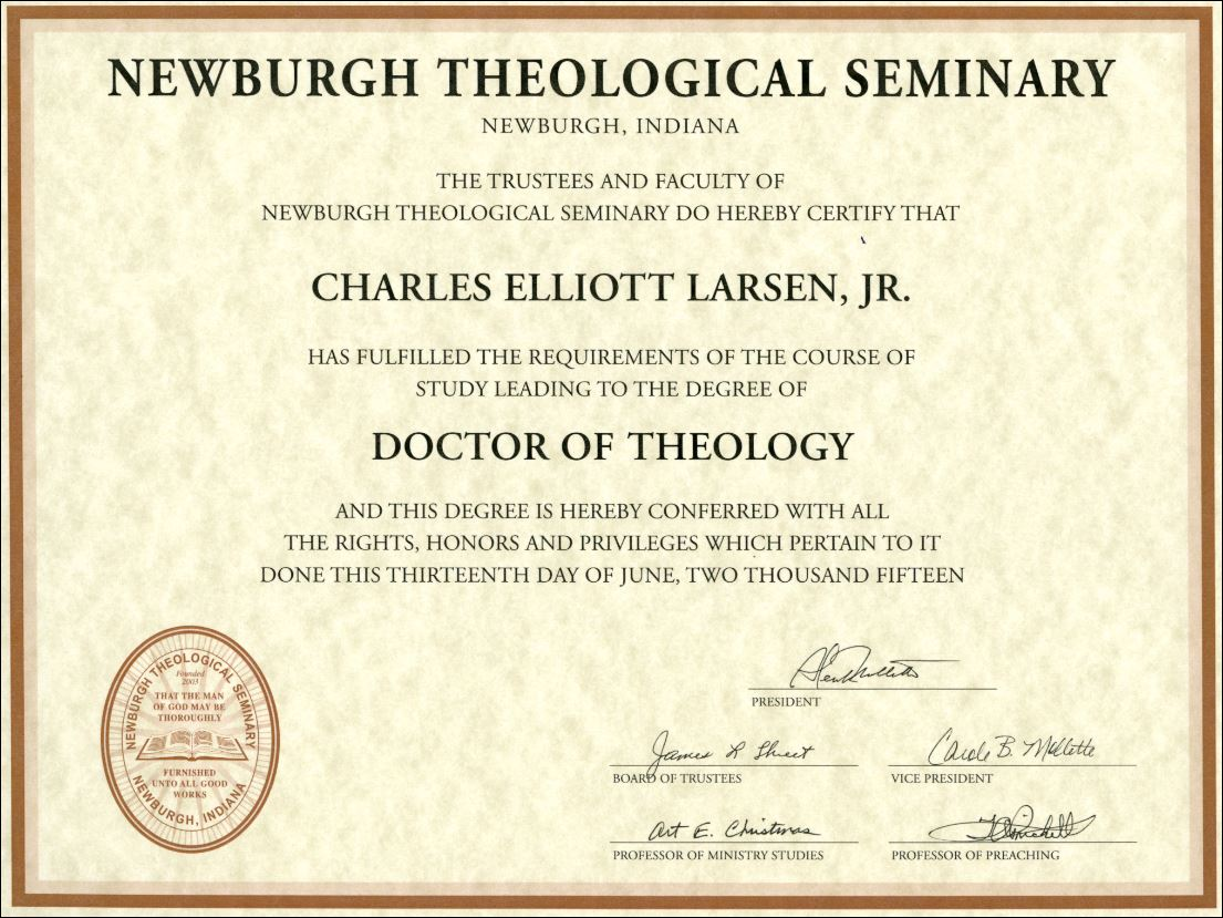 seminary thesis Trinity seminary has doctor of philosophy degrees in biblical studies, theology, pastoral ministry, counseling, christian education, and more.