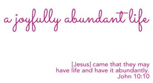 31 joyfully abundant